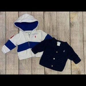 Polo jacket and sweater